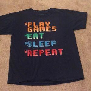Boys black gamer t shirt